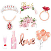 wicked favors - she said yaaaas! Bridal Shower Photo Props [23pc]